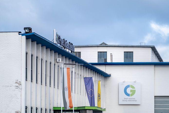 De gebouwen van het failliete CG Power Systems Belgium