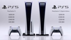 Sony PlayStation 5 kost 500 euro en versie zonder schijflade kost 400 euro