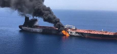 'Tanker in brand in Perzische Golf'