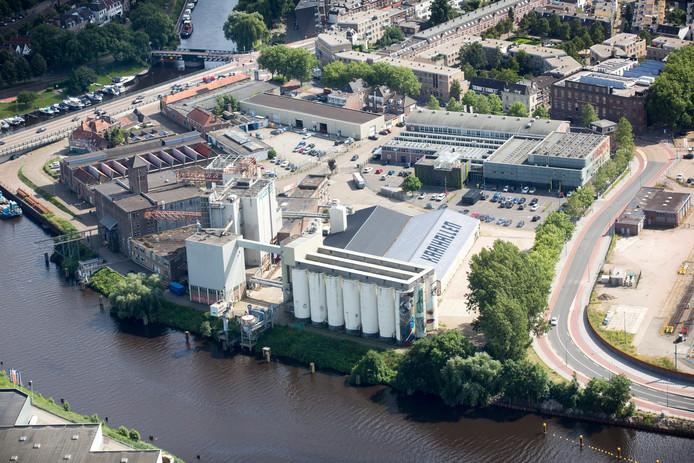 Het gebied Kop van 't Zand met Verkadefabriek en Tramkade