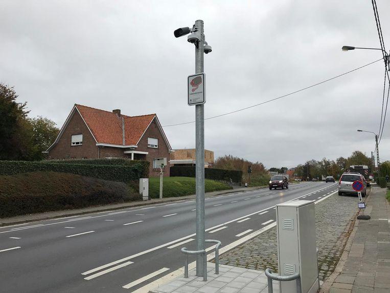 De inwerkingstelling van de trajectcontroles in Diksmuide, zoals hier in Esen, is nog niet voor morgen.
