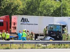 A28 bij Amersfoort dicht na groot ongeluk