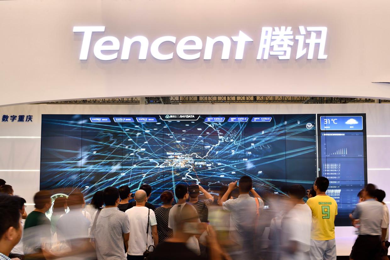 Naspers heeft een derde belang in het Chinese internetbedrijf Tencent.  Beeld VCG via Getty Images