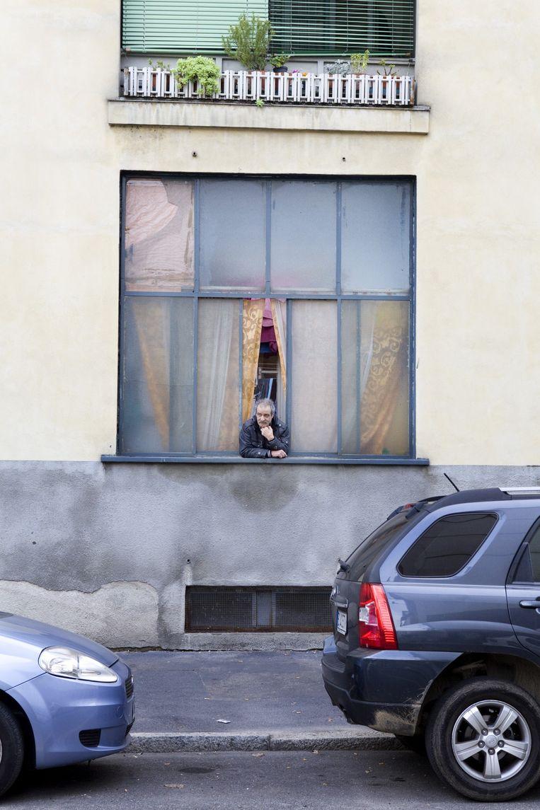 Straatbeeld van de wijk San Siro in Milaan, Italië. Beeld Io Cooman