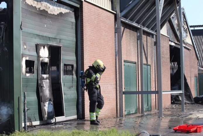Brand in koeienstallen Someren