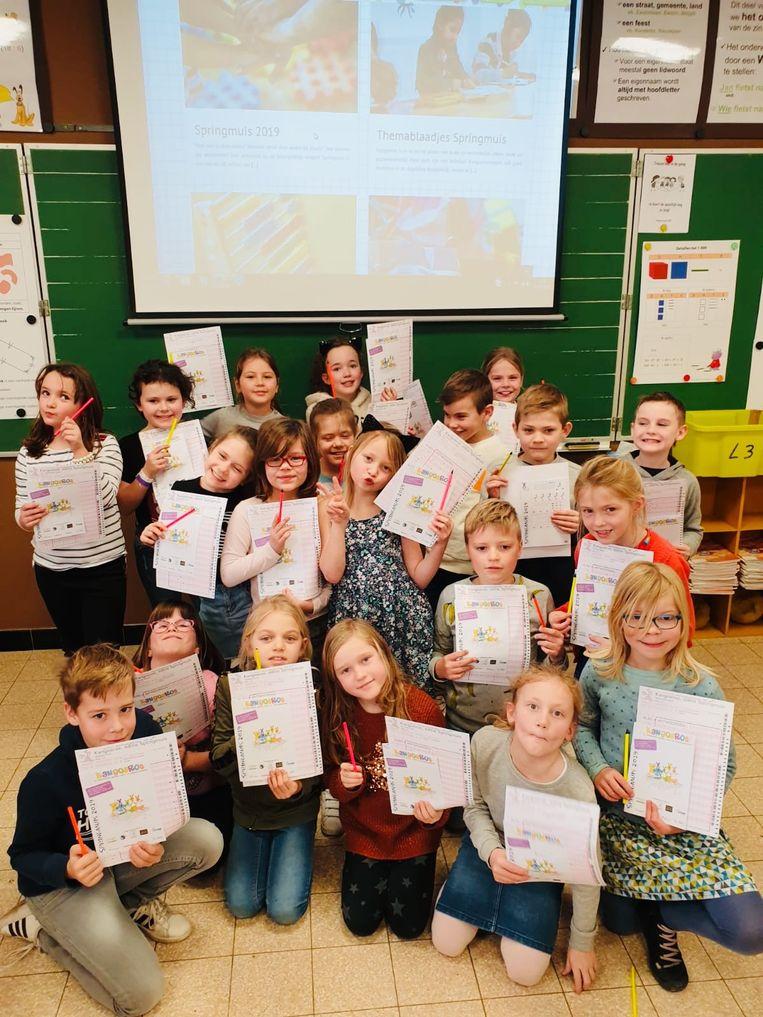 De leerlingen namen deel aan de kangoeroewedstrijd wiskunde.