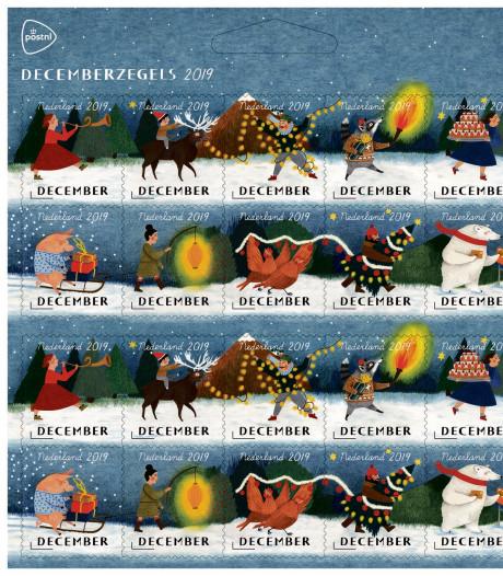 Herinneringen aan kerst in Kaatsheuvel verwerkt in decemberzegel