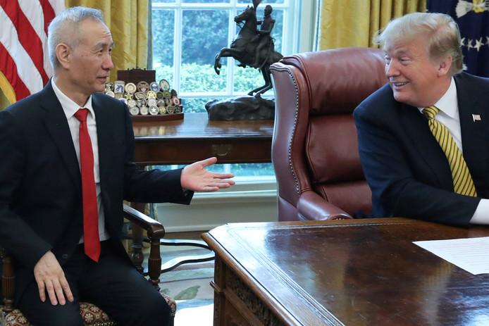 De Chinese vicepremier Liu He was op 4 april ook op bezoek bij president Donald Trump in het Witte Huis.