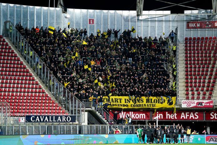 Beeld van de NAC-supporters in het AFAS Stadion.