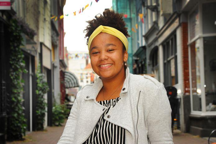 Jayda Boone heeft het prima naar haar zin in Vlissingen.
