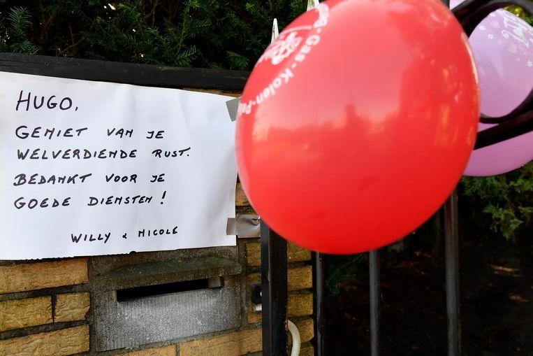 Verschillende bewoners bedankten postbode Hugo voor zijn harde werk.