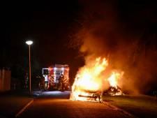 Twee auto's in lichterlaaie in dezelfde straat in Vianen: politie vermoedt brandstichting
