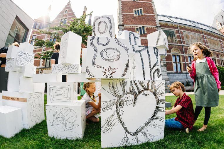 Maar dagelijks gratis je eigen kunst in de tuin van het Rijks. Beeld Rijksmuseum