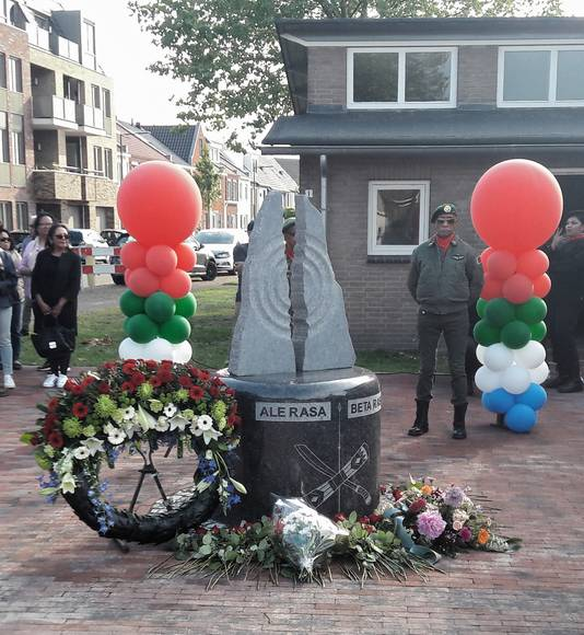 Het molukse monument in de Driesprong in Breda