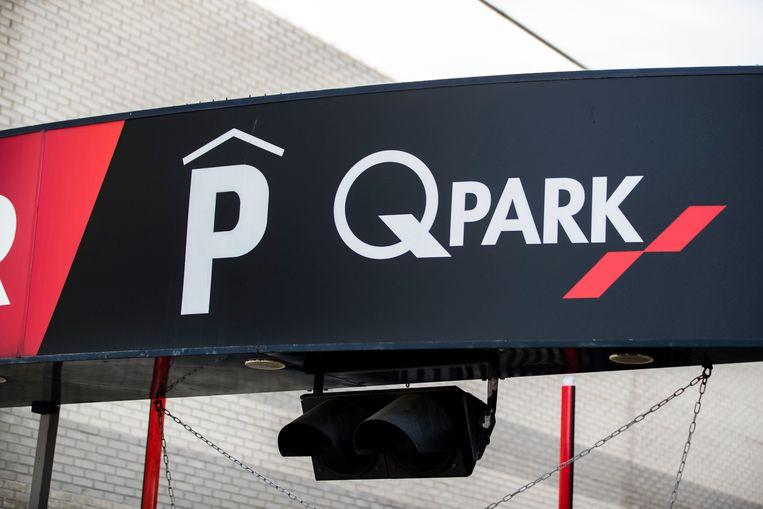 Een logo van parkeergaragebedrijf Q-Park Beeld ANP