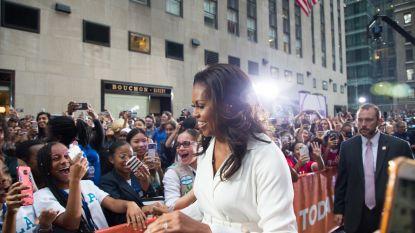 Hoe Michelle Obama als een popster het keurslijf van het Witte Huis afschudt