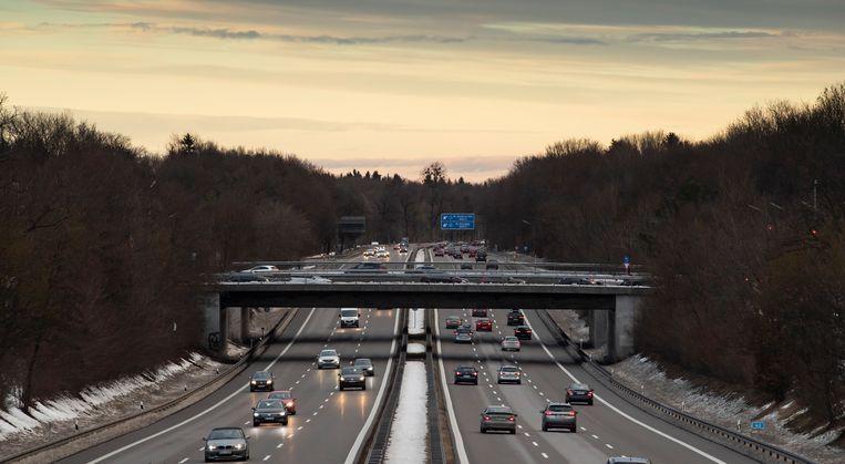 De Duitse Autobahn in de buurt van München. Beeld EPA
