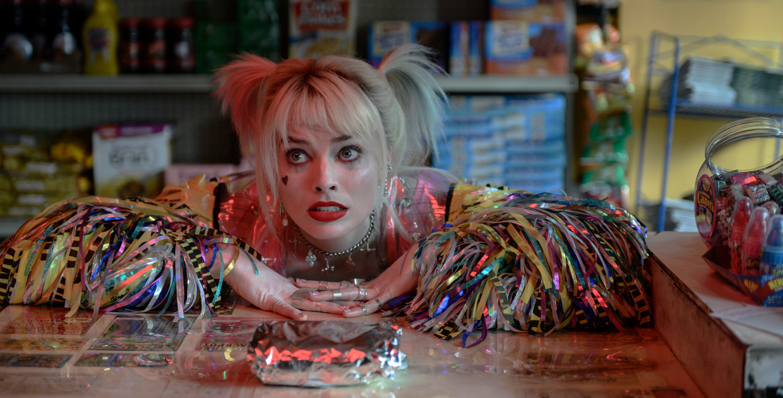 Margot Robbie als de knotsgekke Harley Quinn in 'Birds of Prey'.