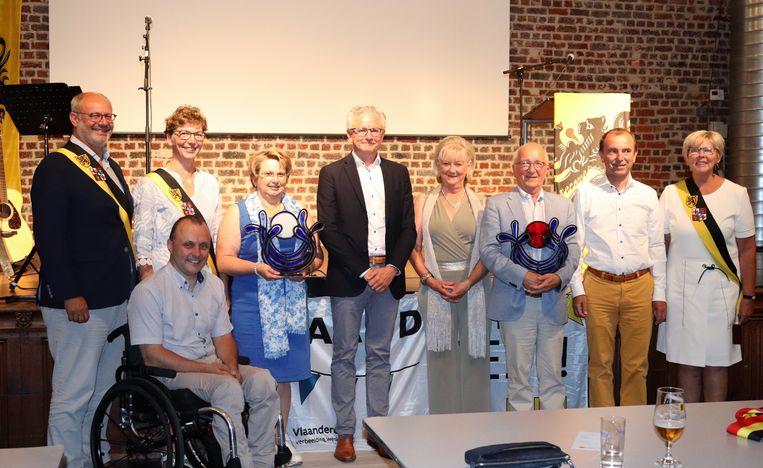 Dominiek Wemel en Katrien Vanparys hebben de Wielsbeekse cultuurprijs gekregen.