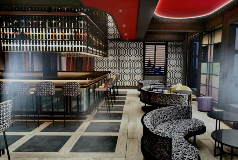 De bar van de Pestana CR7 Gran Vía.