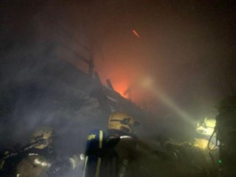 De woningbrand in Etterbeek was hevig.