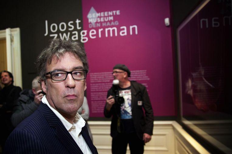 Joost Zwagerman tijdens de opening van het DWDD Popup Museum in het Allard Pierson Museum (2015). Beeld anp kippa