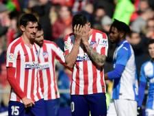 Atlético komt tegen laagvlieger Leganés niet tot scoren