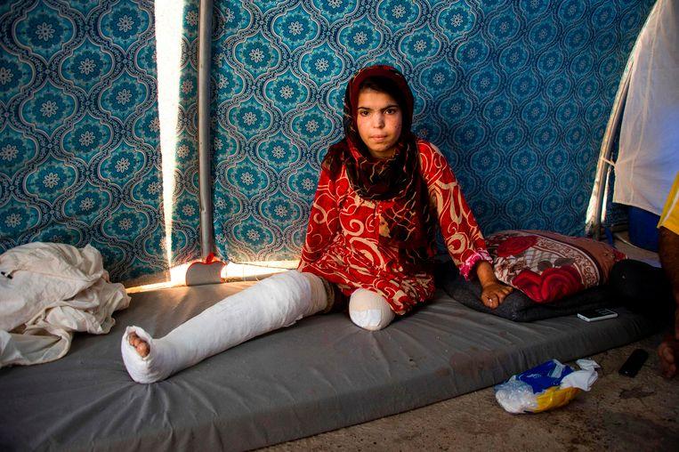 Dit meisje in Irak viel ook ten prooi aan IS.