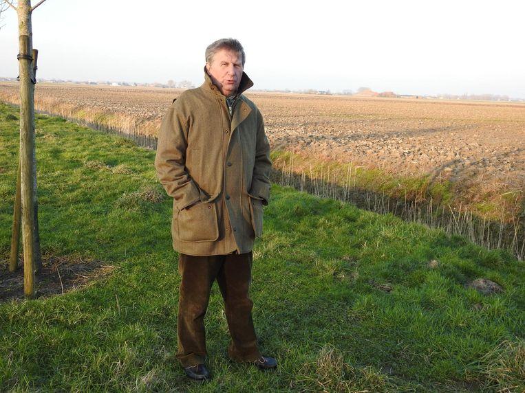 Erik Wille betrapte de Britse stropers toen ze aan het jagen waren in deze velden in Sint-Laureins en zette samen met andere jagers