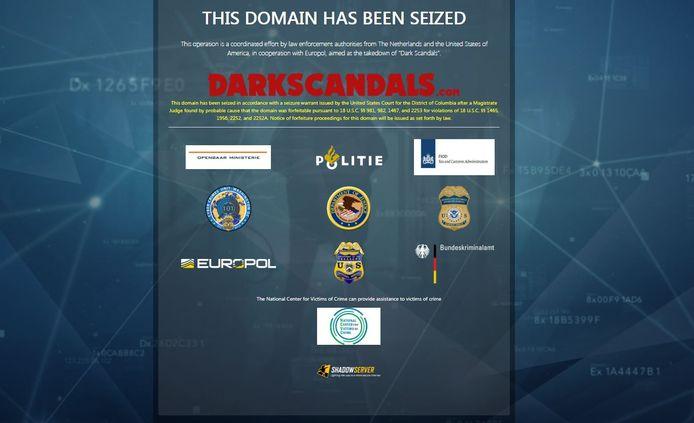 De website DarkScandals is offline gehaald door de politie.