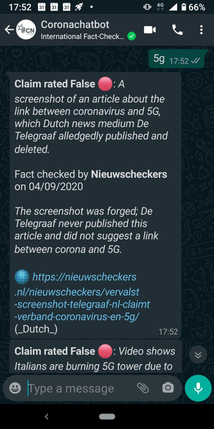 Screenshot Chatbot.