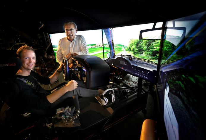 Kevin Abbring traint in een ruimte bij zijn mentor Wim Luijbregts om volgend jaar goed te kunnen presteren in de WRX.