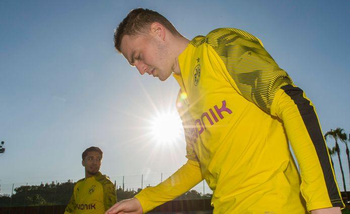 Larsen op het trainingskamp van Dortmund in Marbella.