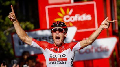 Jelle Wallays zorgt voor eerste Belgische ritzege na lange vlucht (en schreeuwt zich na finish de keel schor)
