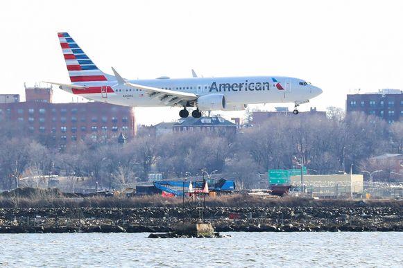 Eén van de laatste vluchten met een Boeing 737 Max 8 van American Airlines , op 12 maart van dit jaar.