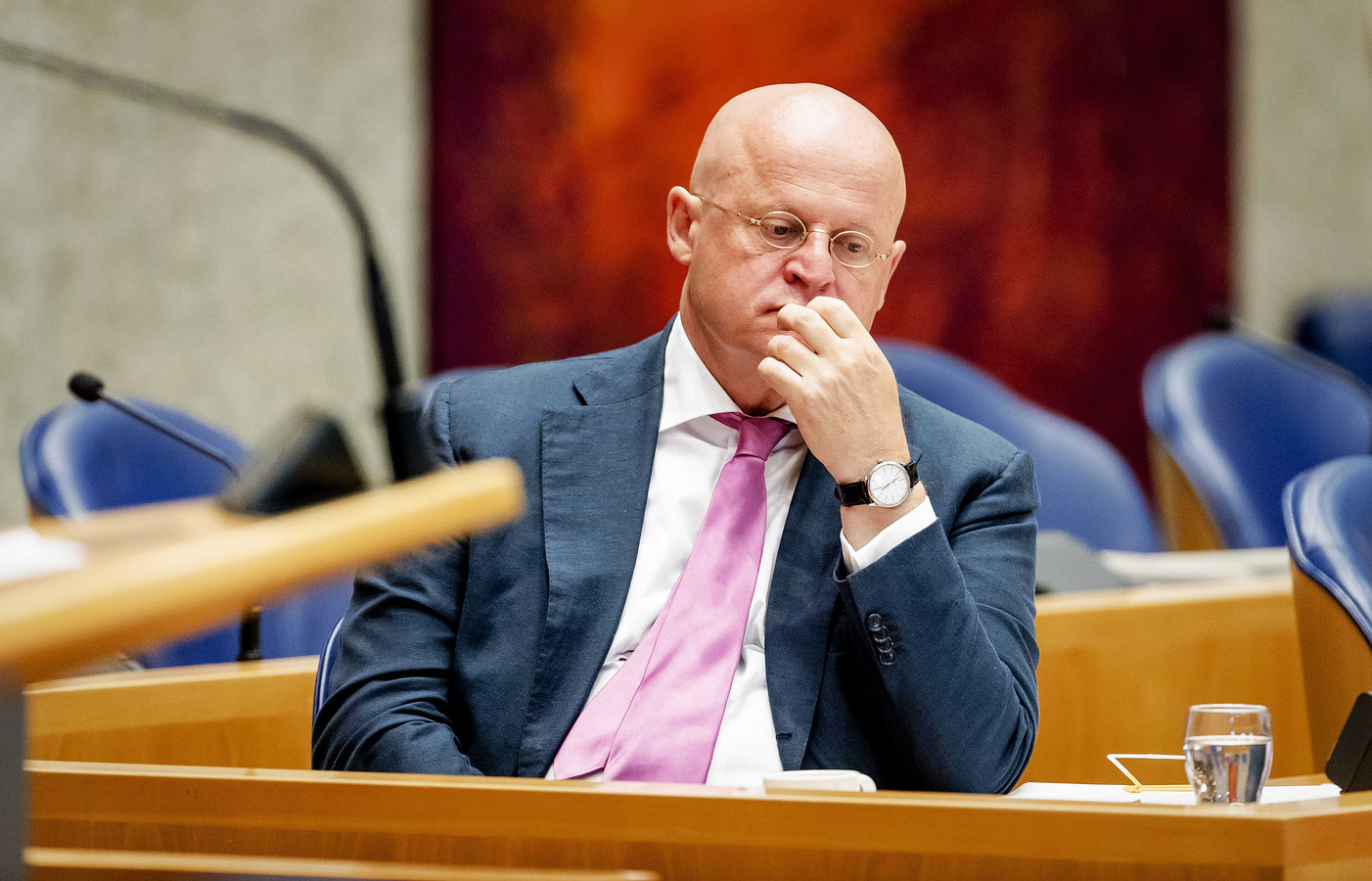 Minister Ferd Grapperhaus (Justitie ) in de Tweede Kamer