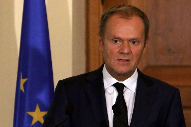 EU-president Donald Tusk heeft een speciale top van regeringsleiders bijeengeroepen vanwege de vluchtelingencrisis. Beeld null