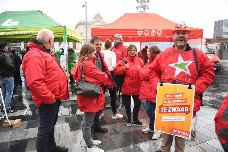 De vakbonden blijven erbij dat 65 jaar een goede leeftijd is om met pensioen te gaan.