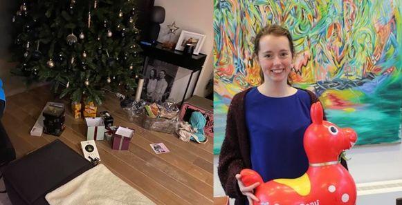 De kerstboom van Laura werd op vrijdagavond geplunderd