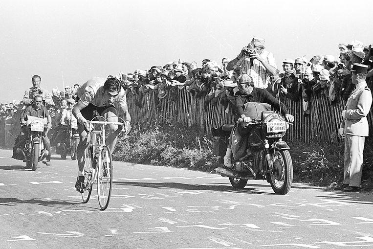 Merckx op de Puy de Dôme in 1969.