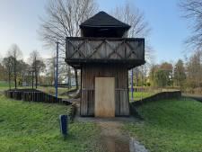 Speelkasteel Matenschans in Apeldoorn is door vandalisme weer een zorgenkindje