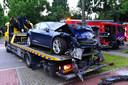 De Tesla is total loss afgevoerd.