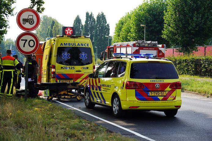 Meerdere kwamen naar de plek van het ongeval in Breda.