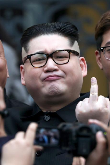 'Kim Jong-un' en 'Trump' zorgen voor verwarring in hoofdstad Vietnam