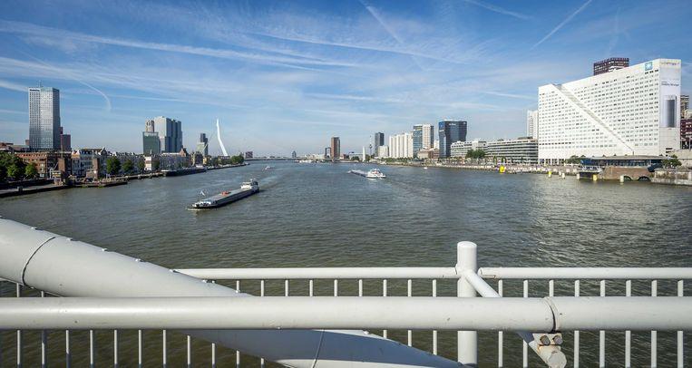 Rotterdam vanaf de Willemsbrug. Beeld ANP