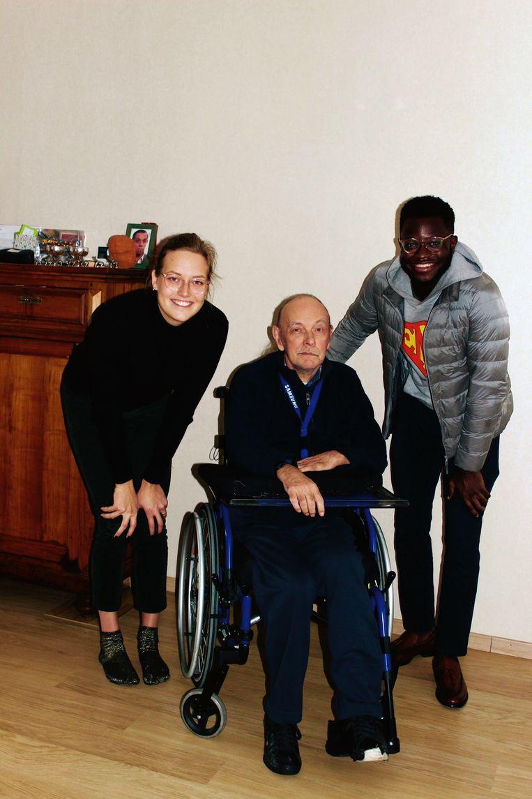 De Leuvense student Bryan Mayoka wil oudere mensen helpen met zijn zorgbedrijf Odelia.