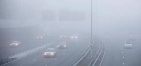 Mist in midden en noorden van het land: plaatselijk minder dan 50 meter zicht