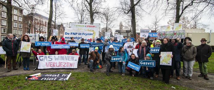 Actiegroepen uit het hele land kwamen naar Groningen voor een manifestatie tegen extra gaswinning.