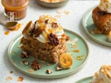 Wat Eten We Vandaag: Bananenbrood met mascarponeroom en karamel