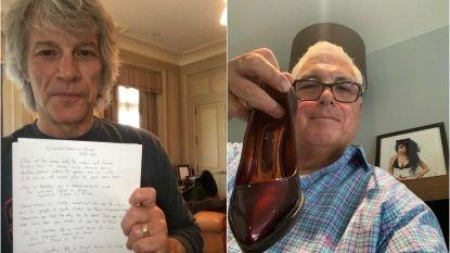 Schoenen van Amy Winehouse en handgeschreven songtekst Bon Jovi onder de hamer voor het goede doel
